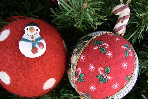 Lupinu innovart addobbi natalizi fai da te - Palline di natale fatte in casa ...